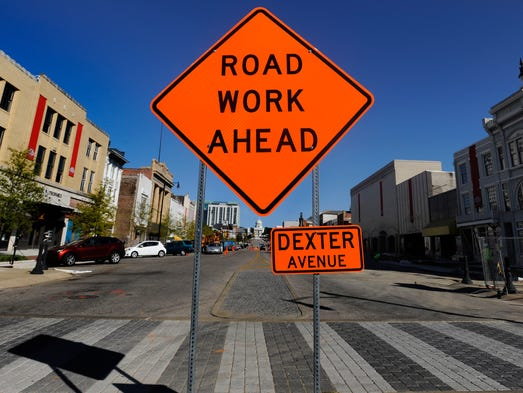 Ongoing projects on and around Dexter Ave. in downtown