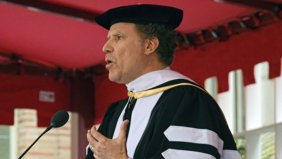 Will Ferrell belts out 'I Will Always Love You' to USC graduating class