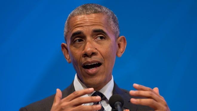In this June 24, 2016 file photo, President Barack Obama speaks in Stanford, Calif.