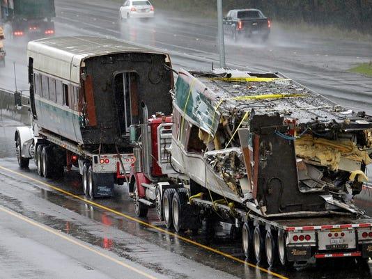 AP TRAIN DERAILMENT WASHINGTON STATE A USA WA