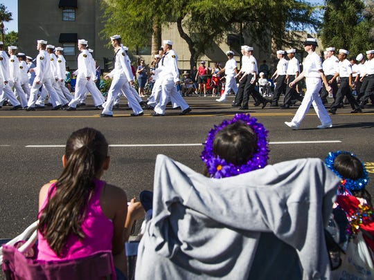 Marchers, floats and bands head south on Central Avenue