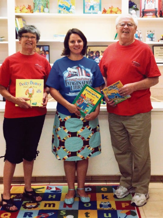 Grant County Imagination Library President Barbara Nelson, left, program coordinator Nancy Stephens and Loren Nelson recently mailed out the program's 52,000th book to a pre-school child. The program provides free books to children under the age of 5. Shannon Seyler - Sun-News