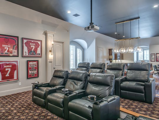 The theater room in DeMarco Murray's 9,600-square-foot