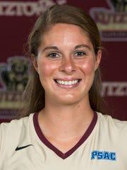 Kutztown volleyball player Zandria Zielinski (York Catholic)