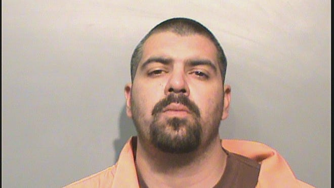 David Frank Ortiz, 35, was arrested after a police chase.