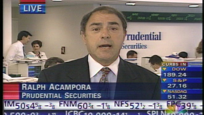 Ralph Acampora of Prudential Securities is being interviewed on CNBC,  August 4, 1998. -
