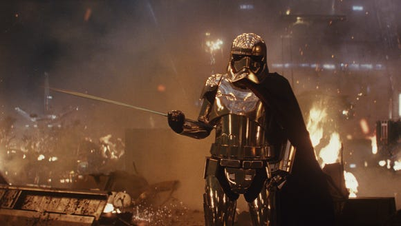 Captain Phasma (Gwendoline Christie) is back and ready