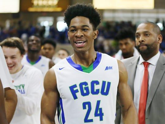 Florida Gulf Coast University rising junior forward