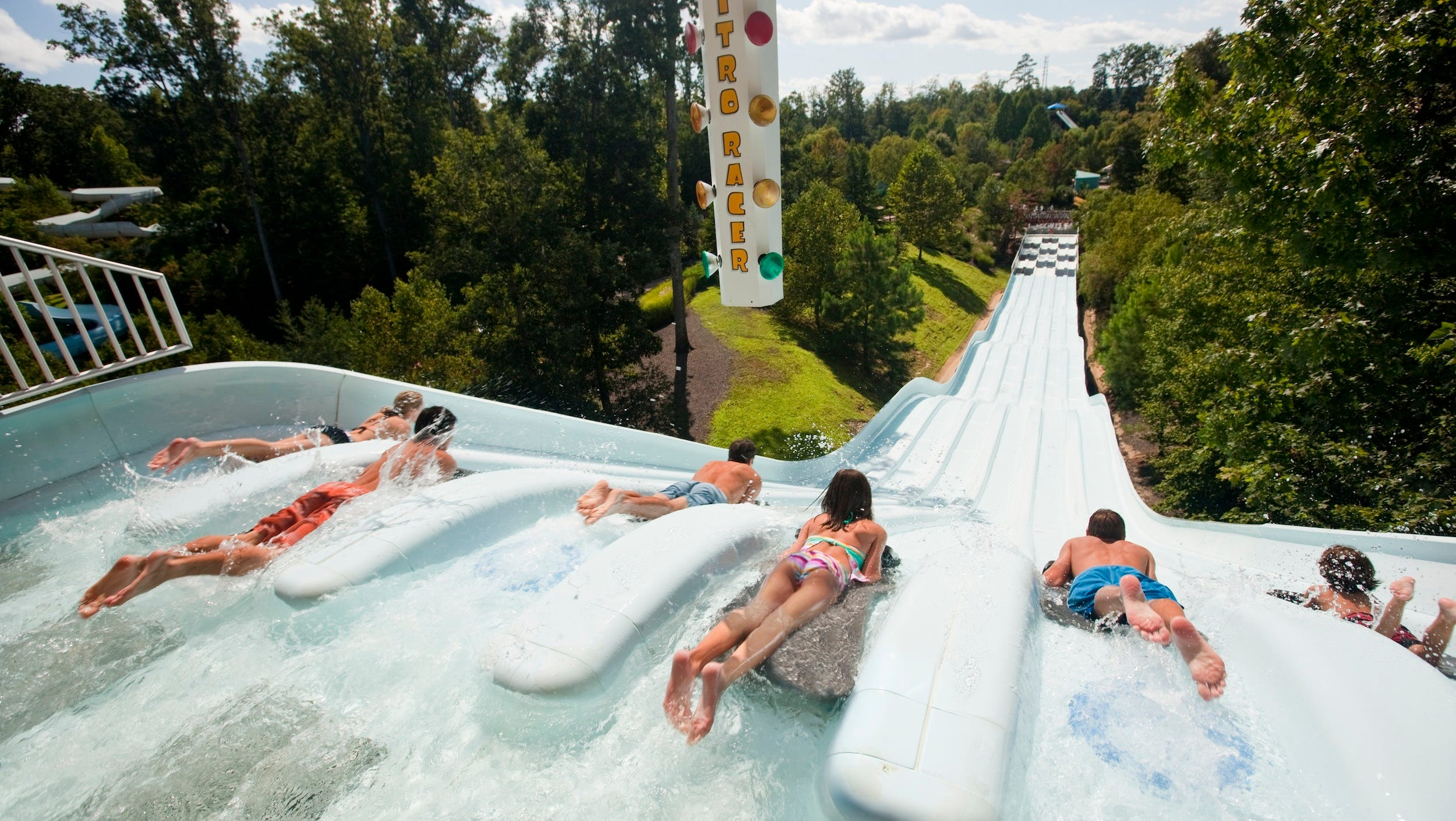 Coming in at No. 7 is Williamsburg, Va.'s family-favorite Water Country USA, with more than 30 rides and attractions. Adrenaline junkies love Vanish Point, a pair of near-vertical body slides where the ground literally drops from beneath you.