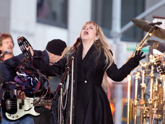 "Stevie Nicks  of Fleetwood Mac performs on NBC's ""Today"""