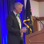 Rep. Earl Blumenauer, D-Ore., speaks to Oregon delegates to the Democratic National Convention July 27, 2016.