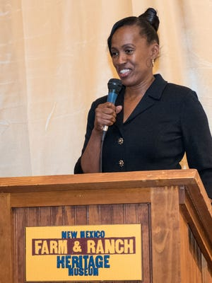 Jackie Joyner-Kersee, a three-time Olympic gold medal winner spoke Thursday to several hundred residents who attended the eighth annual Lou and Mary Henson Community Breakfast at the New Mexico Farm and Ranch Heritage Museum. Joyner-Kersee earned medals at four Olympic Games — 1984, 1988, 1992 and 1996. She is now a philanthropist and advocate for children's education, health issues, racial equality, social reform and women's rights. Proceeds from the annual Henson breakfast are used to support programs and activities at the Las Cruces Boys and Girls Club.