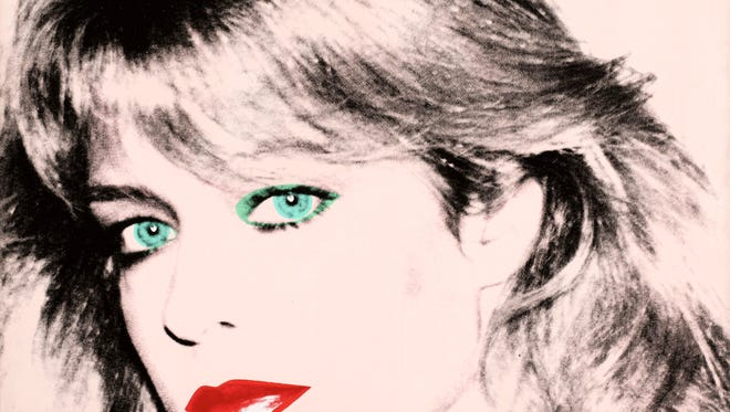 "Photo released courtesy of the Blanton Museum of Art shows Andy Warhol's painting of ""Farrah Fawcett,"" 1980."