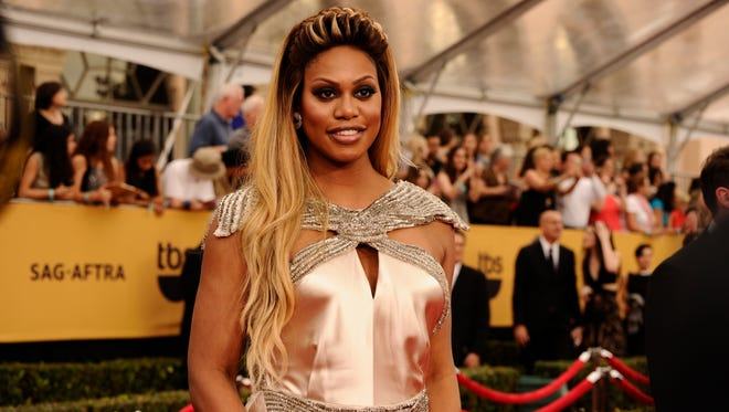 Laverne Cox at the 21st Screen Actors Guild Awards in Los Angeles on Jan. 25, 2015.