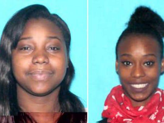 Detroit police are searching for Shavelle Monique Runels, 31, left, and Symone Monique Runels, 22.