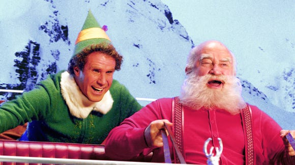Will Ferrell and Ed Asner in a scene from the motion