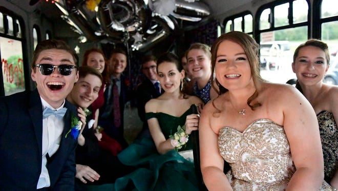 Students from Susquehannock High School arrive at their prom on May 5, 2018. The prom was at the Wyndham Garden Hotel in West Manchester Township.