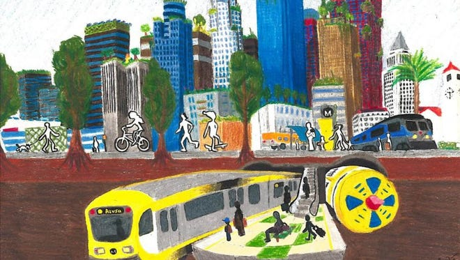 Alex Li's artwork won an art contest for L.A.s' Metro system.