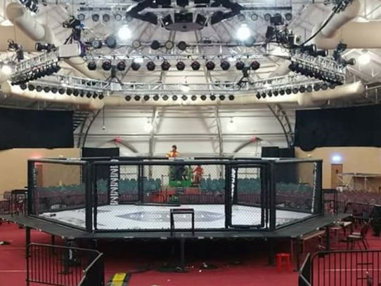 An octagon ring will be placed in the parking lot of