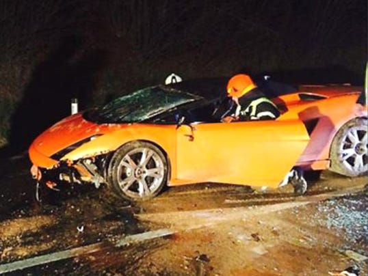 Lamborghini crashed