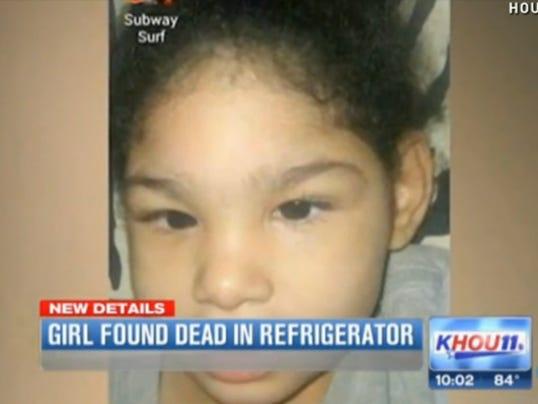 Girl in refrigerator