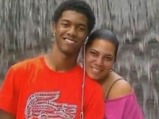 Son shields mom from gunfire