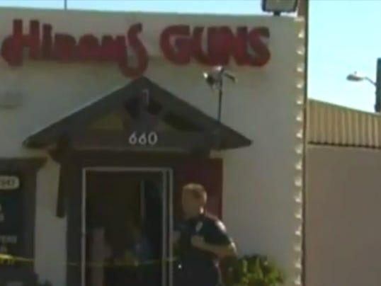 Gun store robbed