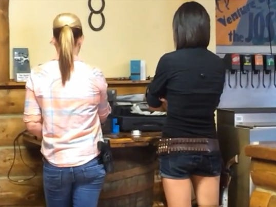 Armed waitresses
