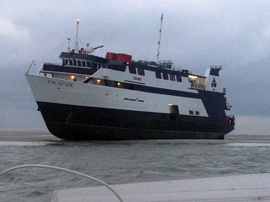 Casino boat grounded