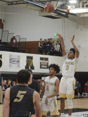 Abilene High's Jalen McGee shoots a 3-pointer while