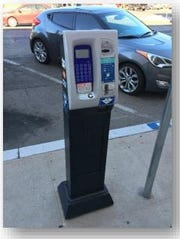 Technology in the parking meter kiosks in Downtown