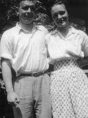 George and Evelyn Ghearing shortly after being married