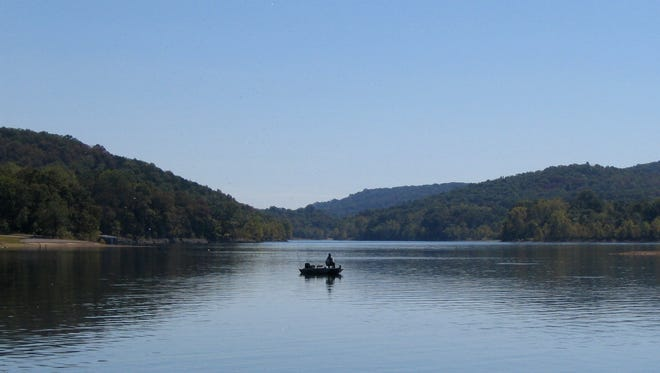 FILE PHOTO- Table Rock Lake in a cove cove at Cricket Creek Recreation Area.