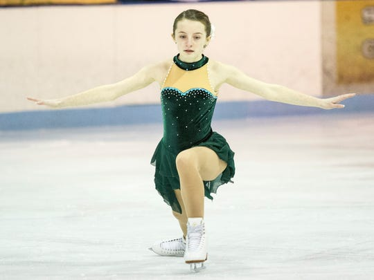Emerald Higgins, 12, from the Port Huron Figure Skating