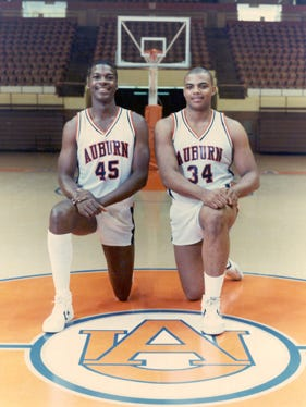 Former Auburn basketball greats Chuck Person and Charles Barkley are listed as participants in Friday's Auburn Basketball Letterman Reunion hosted by new Auburn coach Bruce Pearl.