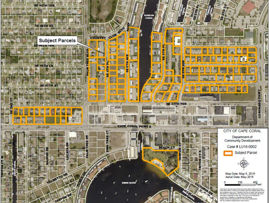 Cape coral adopts future land use for bimini basin for Global motors fort myers florida