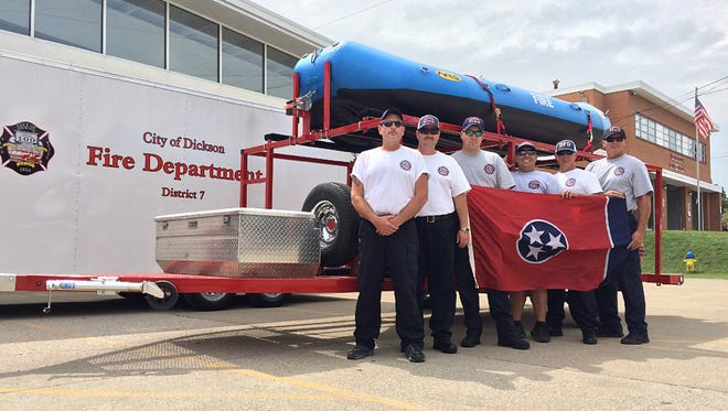 Pictured are the Dickson Fire Department members of the Urban Search and Rescue Team consisting of Chief Richard Greer, Fire Marshal Robby Street, Lt. James Stokes and firefighters Rob Davenport, Chris McNeil and Jonathan McEwen, The team is part of District 7 of Tennessee Homeland Security.
