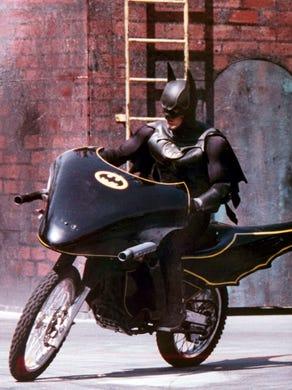 1993: Batman rides into the Batman Stunt Spectacular at Six Flags Great Adventure.
