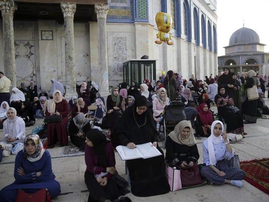 Israel Palestinians Eid Al Fitr