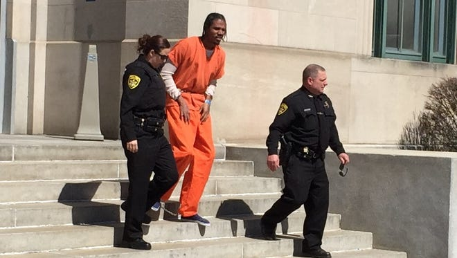 Anthony Boyd is taken to jail after pleading guilty Wednesday to a drug trafficking conspiracy charge in Binghamton's federal court.