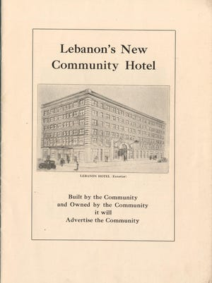This proposal for Lebanon's New Community Hotel in the Lebanon County Historical Society collection shows the exterior of the six-story structure that would be built on the southeast corner of Ninth and Cumberland streets in Lebanon, the site of the Weimer Hotel.