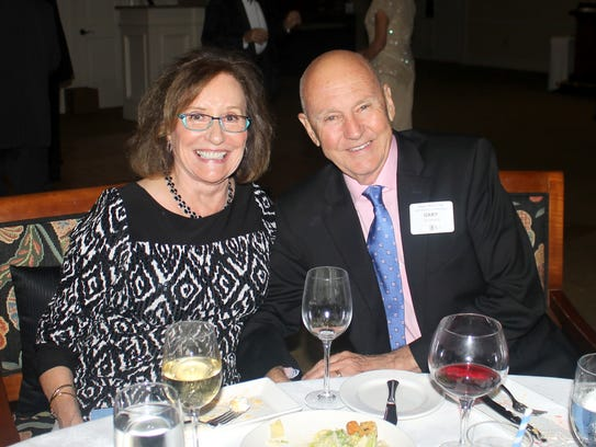 Joan and Gary Downes enjoy a delicious dinner