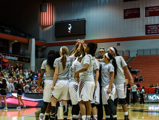 The UC women's basketball team wears a special grey