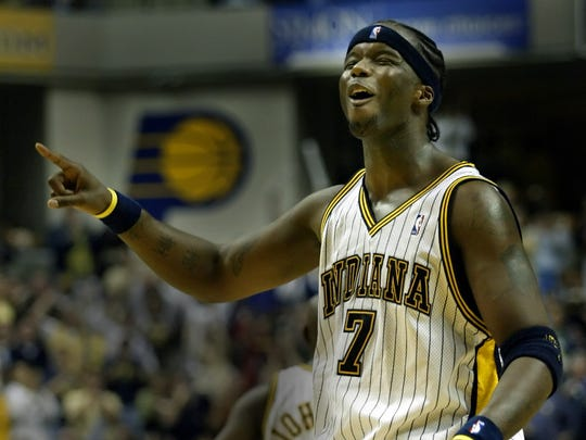 FILE -- Jermaine O'Neal was a frequent All-Star with the Indiana Pacers.