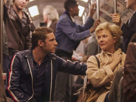 Jamie Bell as Peter Turner and Annette Bening as Gloria