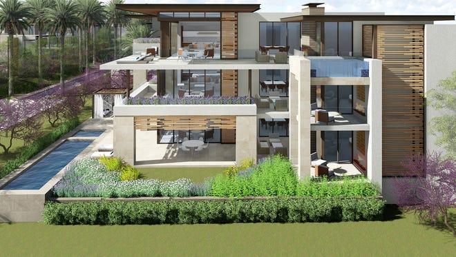 A rendering of a multi-million dollar Ritz-Carlton Paradise Valley villa.