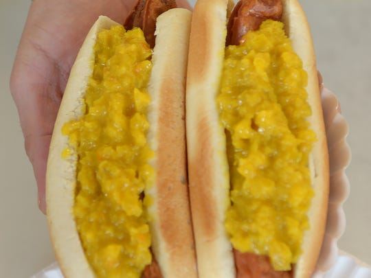 Rutt's Hut has been serving its rippers (deep fried hot dogs) with special housemade relish since 1928 in Clifton NJ,