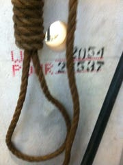 "A noose hung over a wall at a job site in New Jersey left two workers in fear. ""It's almost like terroristic threatening by throwing that noose over there,"" said Vance Thorpe."