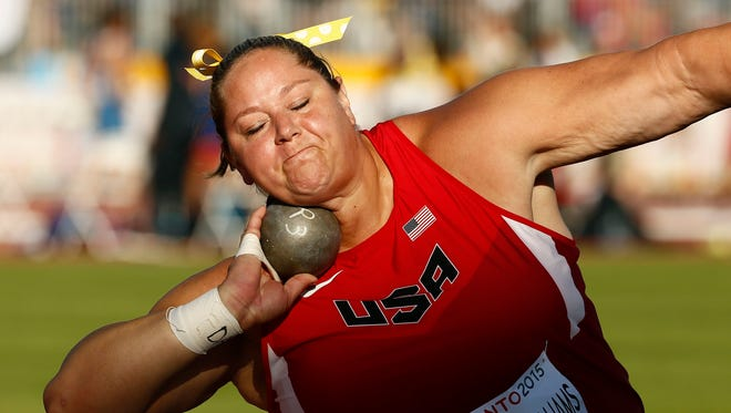 Jill Camarena-Williams of Tucson won the silver medal in shot put Wednesday at the Pan American Games.