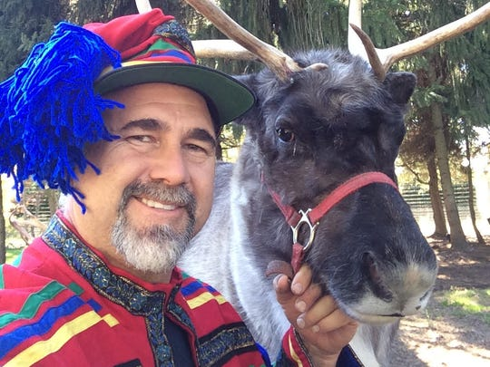 Mark Sopko, of Neshanic Station, will introduce Colonial Christmas visitors to his live reindeer, during an enlightening program for children and adults, on Saturday, November 26 from 1 to 3 p.m.